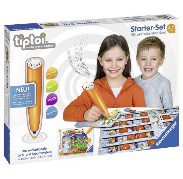 RAVENSBURGER 00802 - tiptoi - Starterset - Stift und Buchstaben Spiel