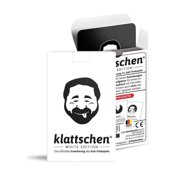 DENKRIESEN FV1210 - Kartenspiel - klattschen® White Edition