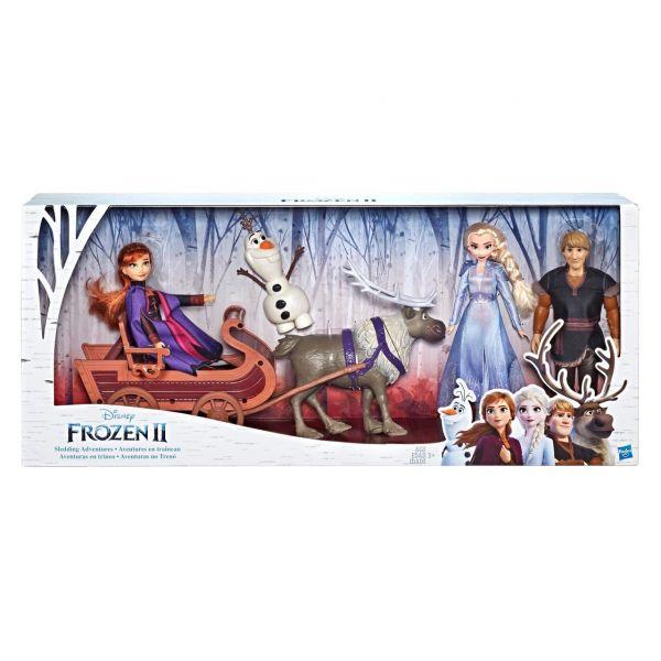 HASBRO E5517 - Disney Frozen 2 - Die Eiskönigin, Abenteuerliche Schlittenfahrt