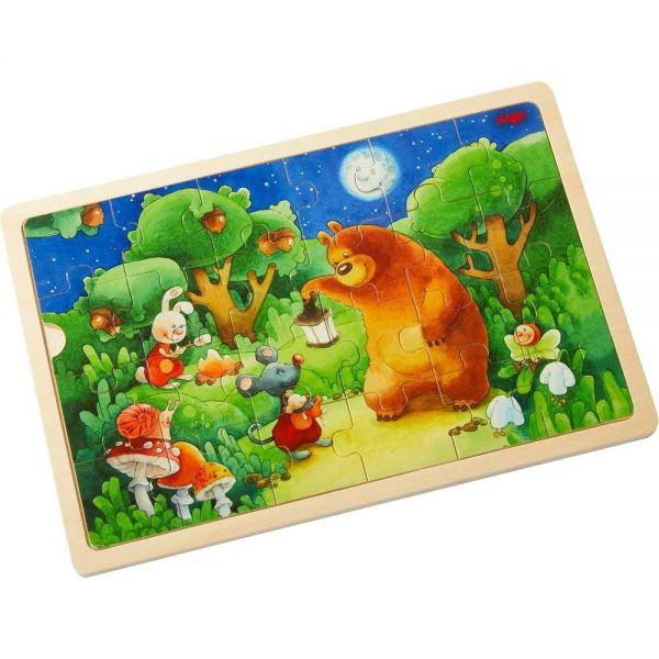 HABA 303645 - Holzpuzzle - Nachtwächterbär
