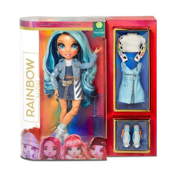 MGA 569633E7C - RAINBOW HIGH - Poppy Rowan – Blaue Mode-Puppe mit 2 Outfits