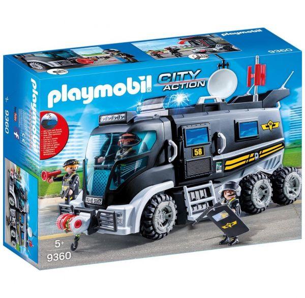 PLAYMOBIL 9360 - City Action SEK - SEK-Polizei-Truck mit Licht und Sound