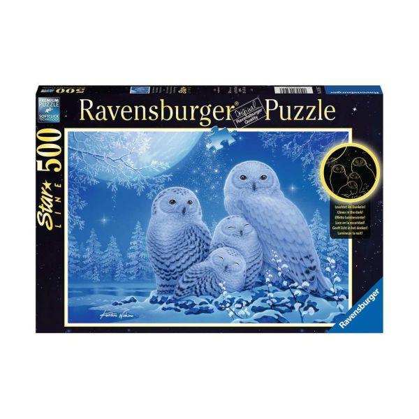 RAVENSBURGER 16595 - Puzzle - Star Line - Eulen im Mondschein, 500 Teile
