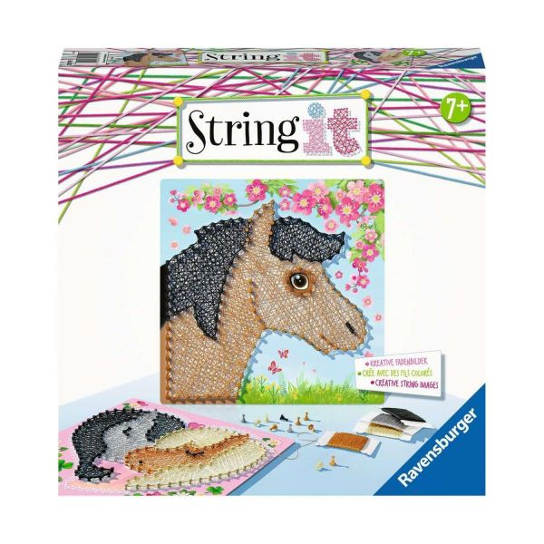 RAVENSBURGER 18119 - String It Midi - Horses - Pferde