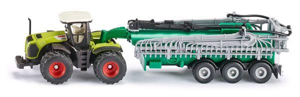 SIKU 1827 - FARMER - Claas Xerion Traktor mit Fasswagen