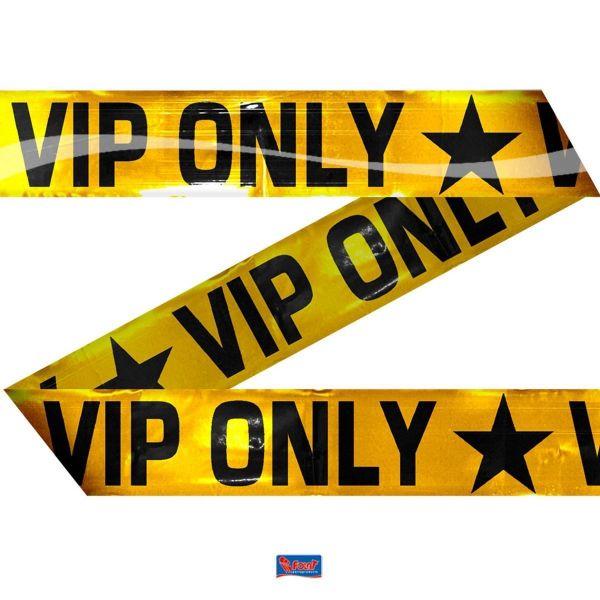 FOLAT 22559 - Geburtstag & Party - Banner Absperrband VIP ONLY 15 Meter