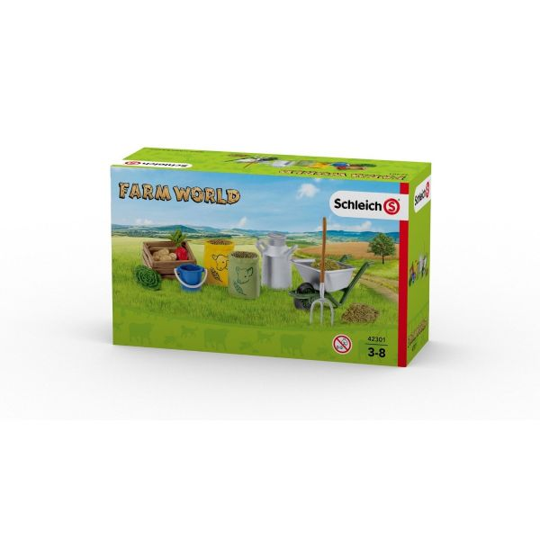 SCHLEICH 42301 - Farm World - Fütterung der Bauernhoftiere