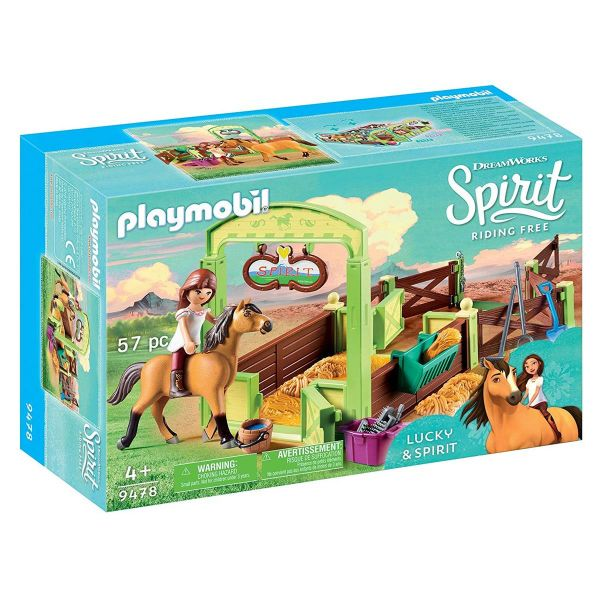 PLAYMOBIL 9478 - Spirit Riding Free - Pferdebox Lucky & Spirit