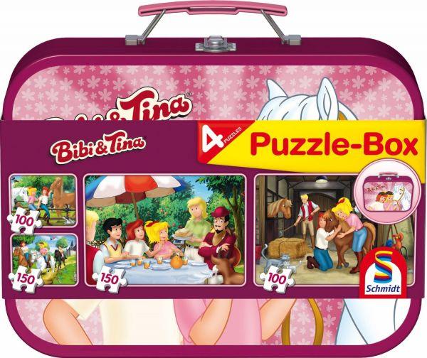 SCHMIDT 56509 - Puzzle Koffer - Bibi und Tina