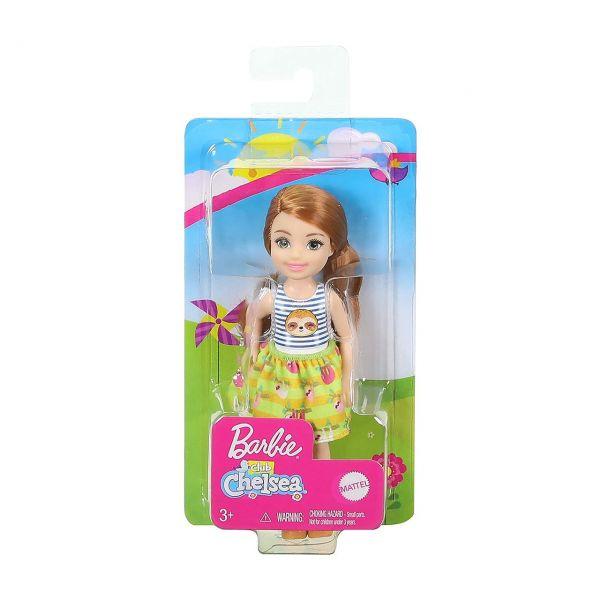 MATTEL GHV66 - Barbie - Chelsea Puppe mit Faultier Shirt