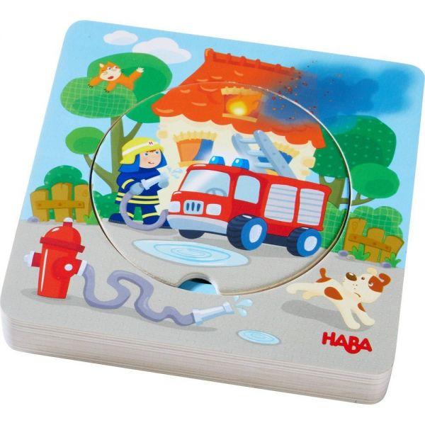 HABA 303252 - Holzpuzzle - Feuerwehr-Einsatz