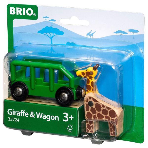 BRIO 33724 - Bahn - Giraffenwagen