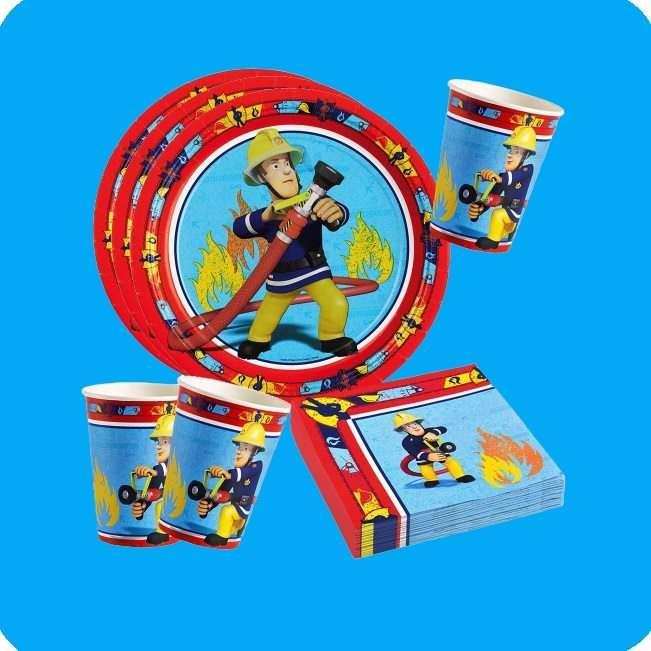 Partydeko Kindergeburtstag Feuerwehrmann Sam bei Spielzeugwelten