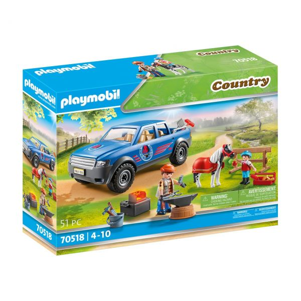 PLAYMOBIL 70518 - Country Ponyhof - Mobiler Hufschmied