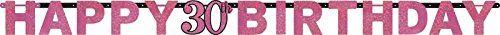 AMSCAN 9900592 - Sparkling Celebrations Pink, 30. Geburtstag - Partykette, 213x16,2 cm