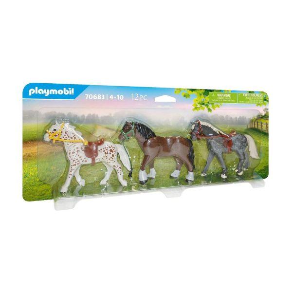 PLAYMOBIL 70683 - Country Ponyhof - 3 Pferde
