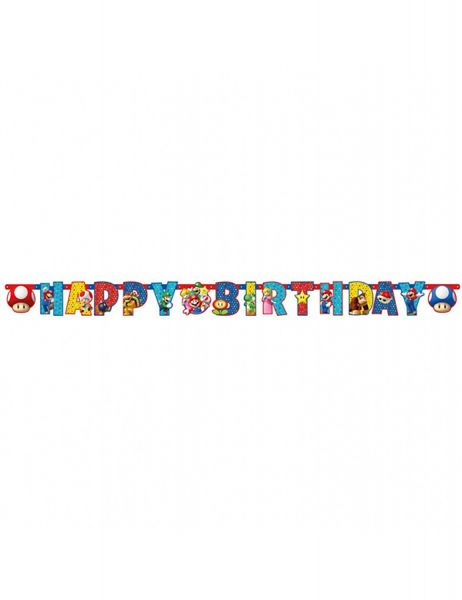 AMSCAN 9901542 - Geburtstag & Party - Partykette Super Mario, 190x15cm