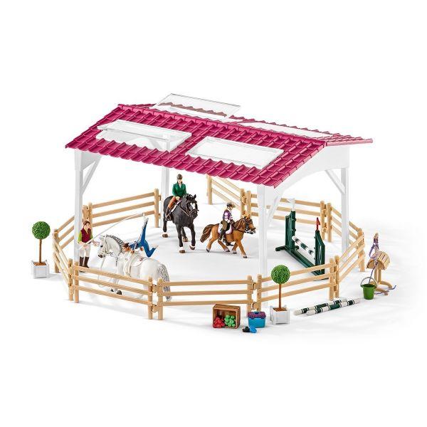 SCHLEICH 42389 - Horse Club - Reitschule mit Reiterinnen und Pferden