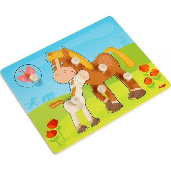 HABA 303771 - Greifpuzzle - Pferdefamilie