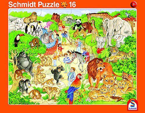 SCHMIDT 56790 - Rahmenpuzzle - Zoo und Bauernhof, 2er Set