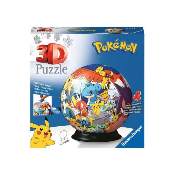 RAVENSBURGER 11785 - 3D Puzzle-Ball - Pokémon, 72 Teile