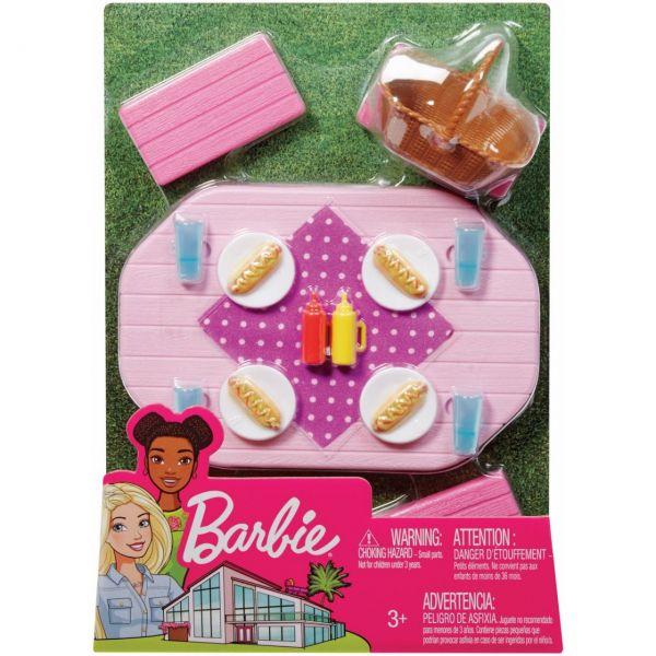 MATTEL FXG40 - Barbie - Möbel-Spielset Outdoor Picknicktisch