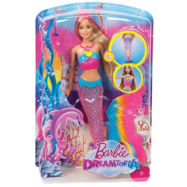 MATTEL DHC40 - Barbie - Dreamtopia Regenbogenlicht-Meerjungfrau Puppe