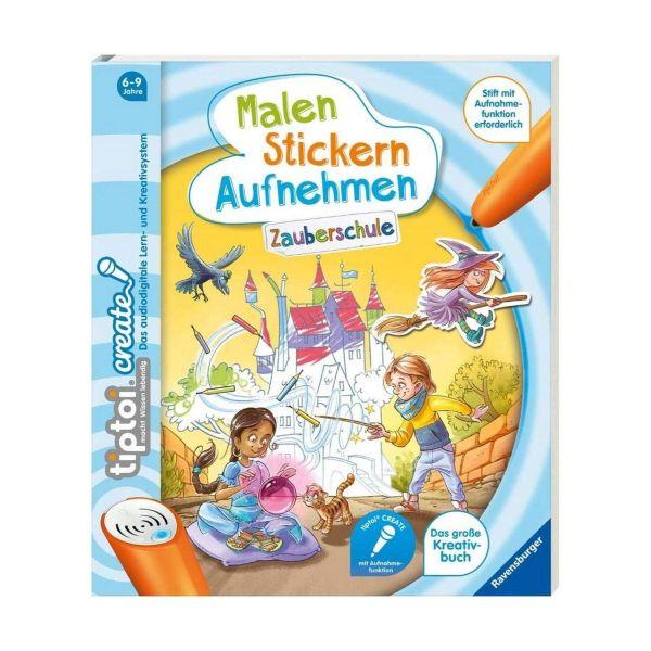 RAVENSBURGER 65889 - tiptoi Buch - CREATE - Malen Stickern Aufnehmen