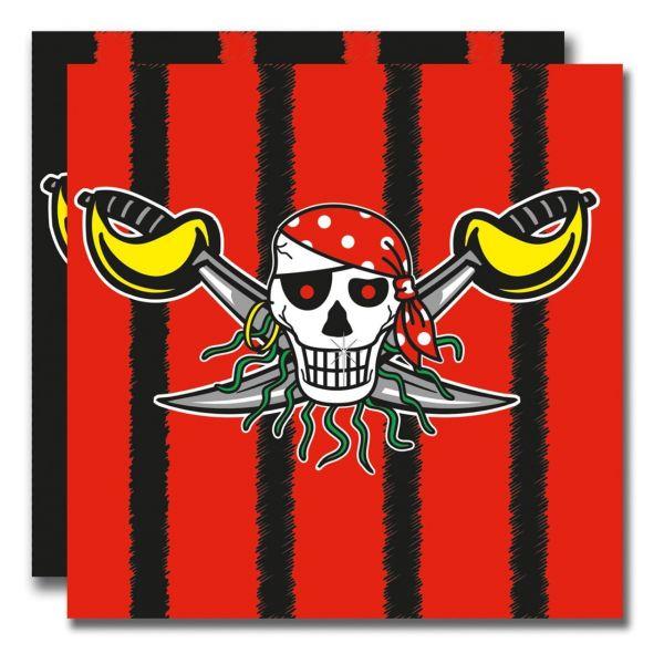 FOLAT 07642 - Geburtstag & Party - Piraten Servietten, 20 Stk., 33 cm
