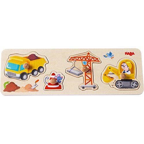 HABA 301943 - Greifpuzzle - Auf der Baustelle