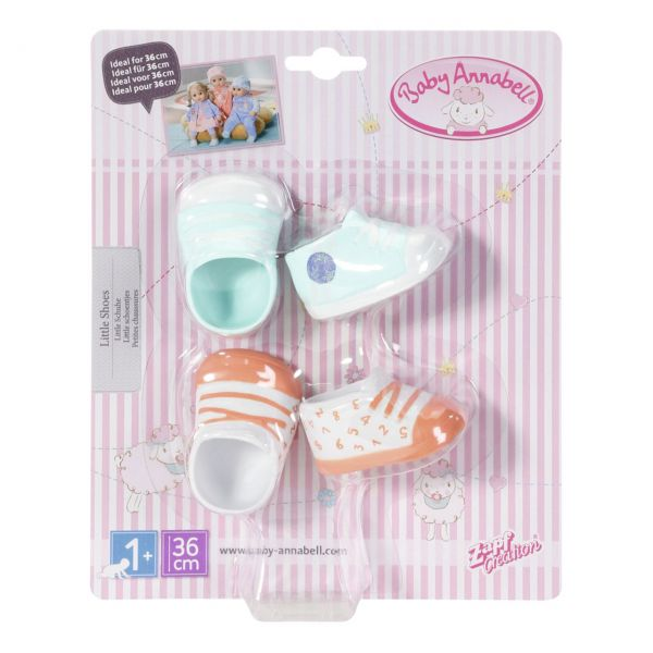 Zapf Creation 703632 - Baby Annabell® - Little Schuhe, 2 Paar, 36cm
