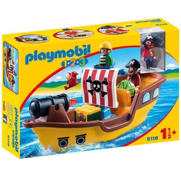 PLAYMOBIL 9118 - 1.2.3 - Piratenschiff