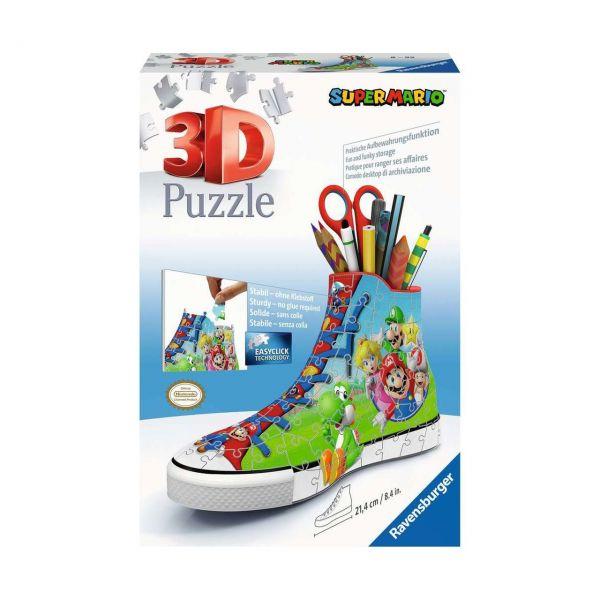 RAVENSBURGER 11267 - 3D Puzzle - Sneaker Super Mario, 108 Teile