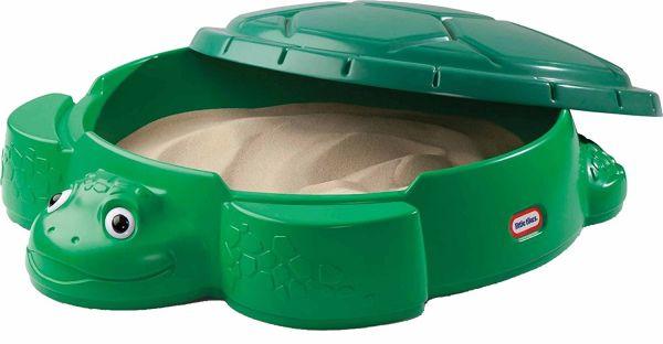 Little Tikes 631566E3 - Sandspielzeug - Schildkröten Sandkasten mit Deckel