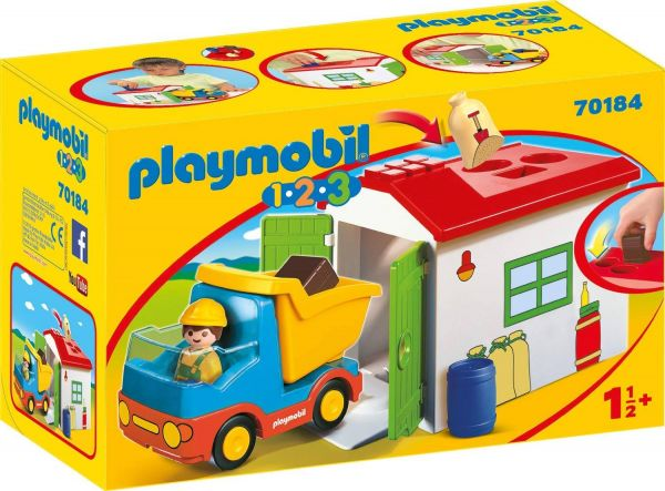 PLAYMOBIL 70184 - 1.2.3 - LKW mit Sortiergarage