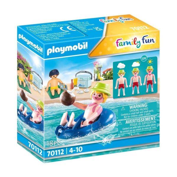 PLAYMOBIL 70112 - Family Fun - Badegast mit Schwimmreifen