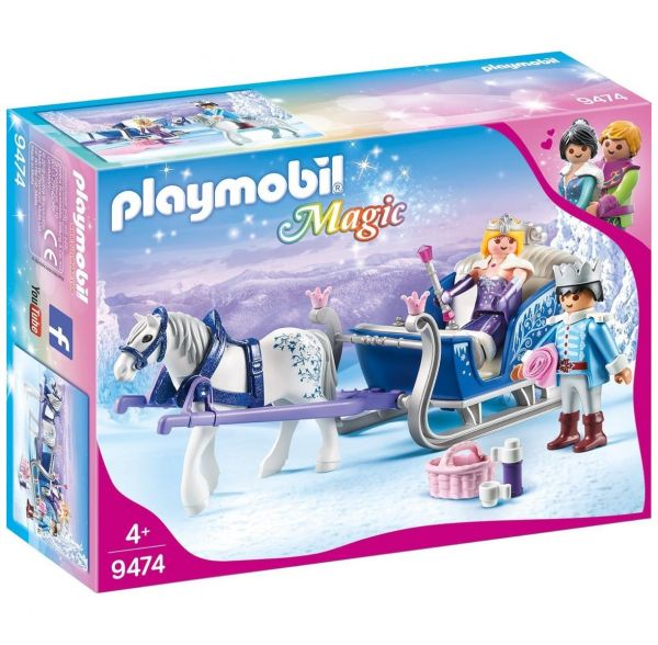 PLAYMOBIL 9474 - Magic - Schlitten mit Königspaar