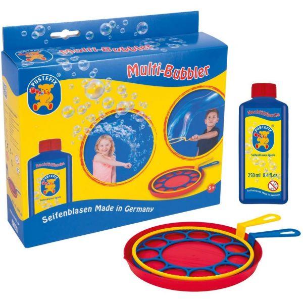 PUSTEFIX 869580 - Seifenblasen - Multi-Bubbler Set + Nachfüllflasche, 250ml