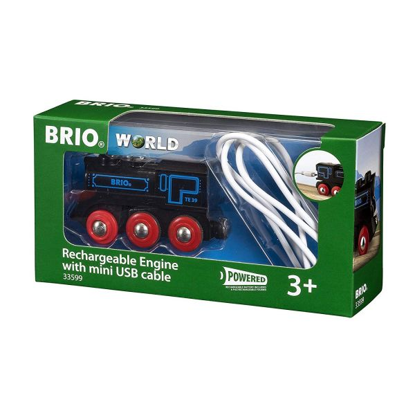 BRIO 33599 - Bahn - Schwarze Akku-Lok mit Mini-USB