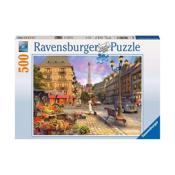 RAVENSBURGER 14683 - Puzzle - Spaziergang durch Paris, 500 Teile