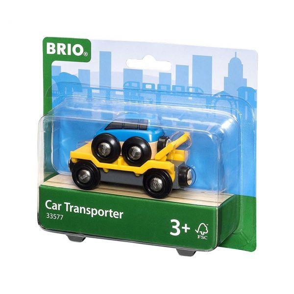 BRIO 33577 - Bahn - Autotransporter mit Rampe