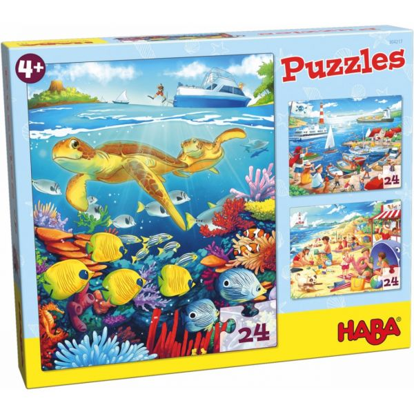 HABA 304217 - Puzzle - Am Meer, 24 Teile