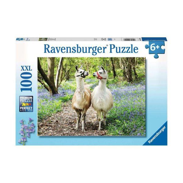 RAVENSBURGER 12941 - Puzzle - Flauschige Freundschaft, 100 Teile XXL
