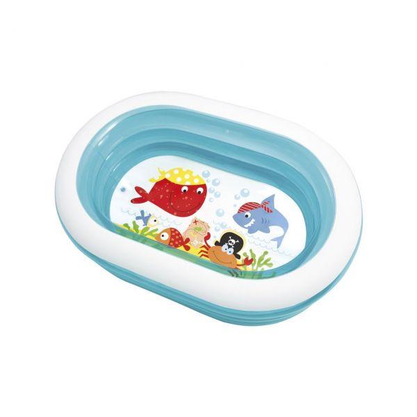 INTEX 57482 - Planschbecken - Pool Wal Spaß Whale Fun, 163x107x46 cm