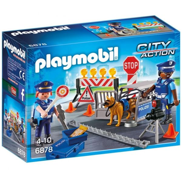 PLAYMOBIL 6878 - City Action Polizei - Polizei-Straßensperre