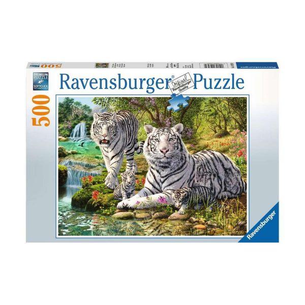 RAVENSBURGER 14793 - Puzzle - Weiße Raubkatzen, Tiger, 500 Teile