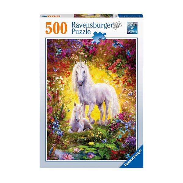 RAVENSBURGER 14825 - Puzzle - Einhorn mit Fohlen, 500 Teile