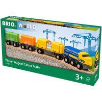 BRIO 33982 - Züge - Güterzug mit drei Waggons