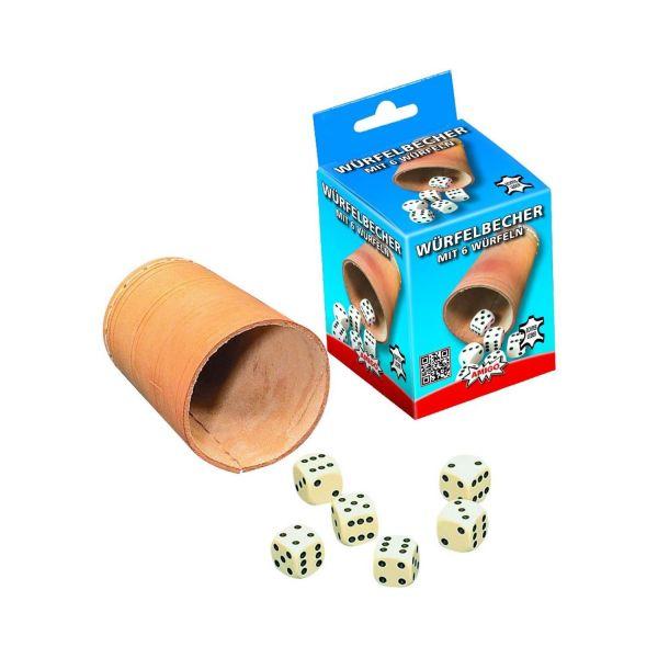 AMIGO 87052 - Würfel - Würfelbecher 8.4cm (6 Würfel)