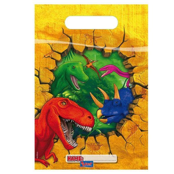 FOLAT 61854 - Geburtstag & Party - Dino Party Tüten - 6 Stk.